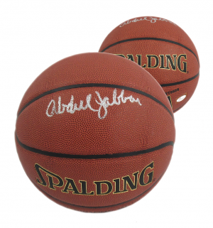 Kareem Abdul-Jabbar Signed Spalding Replica NBA Basketball-0