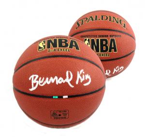 Bernard King Signed Spalding Replica NBA Basketball - New York Knicks-0