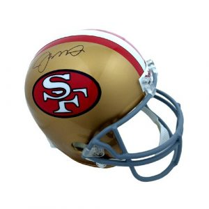 Joe Montana Autographed/Signed San Francisco 49ers NFL Riddell Authentic Helmet - Fanatics-0