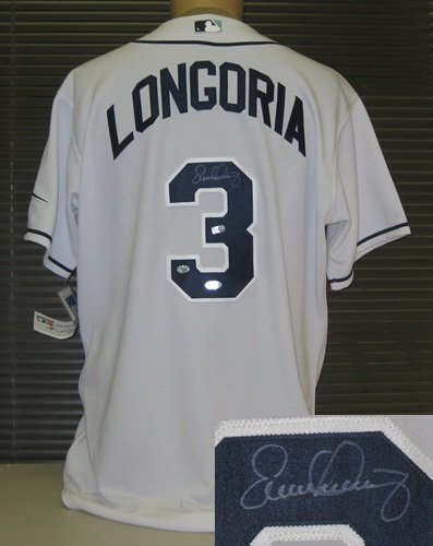Evan Longoria Autographed Authentic Tampa Bay Rays Jersey-0