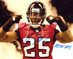 William Moore Signed/Autographed Atlanta Falcons 8X10 Rise Up-0
