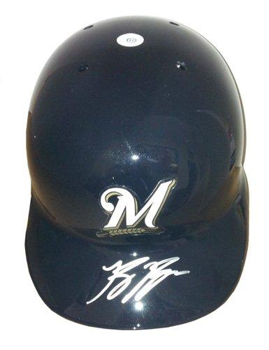 Ryan Braun Autographed/Signed Milwaukee Brewers Official Rawlings MLB Batting Helmet-0