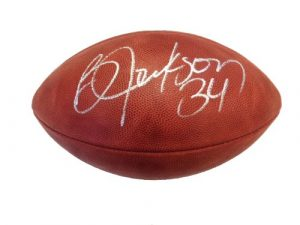 Bo Jackson Autographed Official Game Wilson NFL Football Raiders-0
