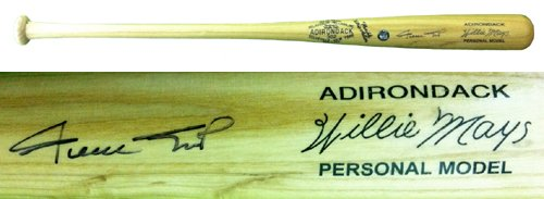 Willie Mays Autographed/Signed Rawlings Adirondack Engraved Personal Model Blonde Bat-0