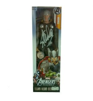 Stan Lee Autographed/Signed Marvel Avengers Thor Classic Series Action Figure Box-0