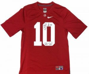 A.J. McCarron Autographed/Signed Alabama Crimson Tide Nike NCAA Jersey with Roll Tide Inscription-0
