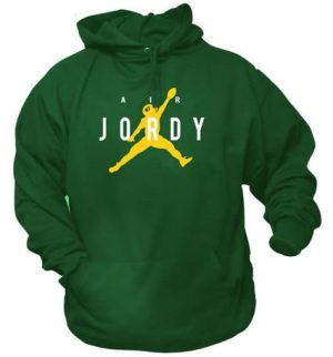 High Flying Air Jordy 87 Pack Pride Green Football Hoodie - Medium-0