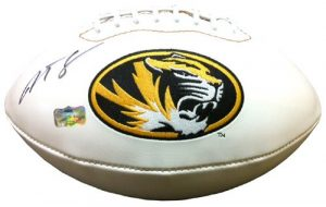Justin Smith Autographed/Signed Missouri Tigers Mizzou Logo Football-0