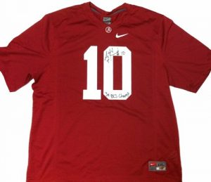 A.J. McCarron Autographed/Signed Alabama Crimson Tide Nike NCAA Jersey with 3x BCS Champ Inscription-0