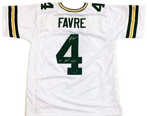 "Brett Favre Autographed/Signed Green Bay Packers Custom NFL Away Jersey with ""4 Retired 7/18/15"" Inscription - LE of 44-0"