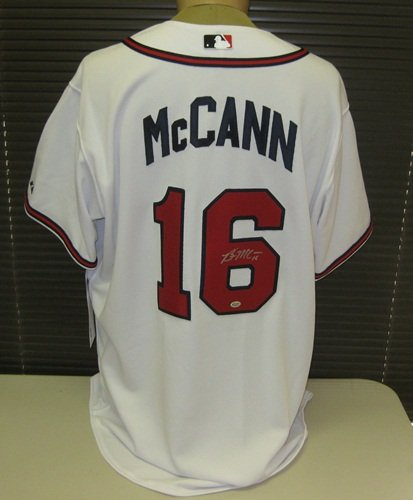quality design 38740 1f22e Brian McCann Signed Authentic White Braves Jersey