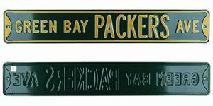 Green Bay Packers Avenue Officially Licensed Authentic Steel 36x6 Green & Yellow NFL Street Sign-0