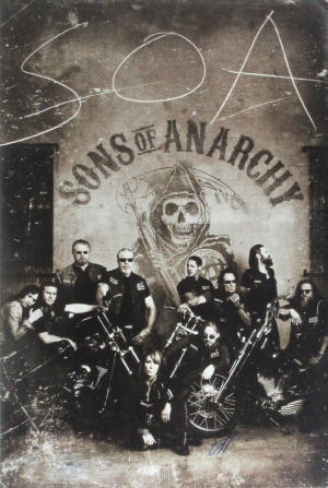 Tommy Flanagan Signed Sons Of Anarchy 36x24 Poster with 10 Characters-0