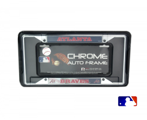 Atlanta Braves Officially Licensed MLB EZ View Chrome Tag Frame-0
