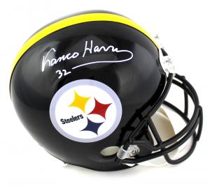 Franco Harris Signed NFL Pittsburgh Steelers Full Size Helmet-0
