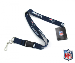 New England Patriots Officially Licensed Nylon Lanyard-0
