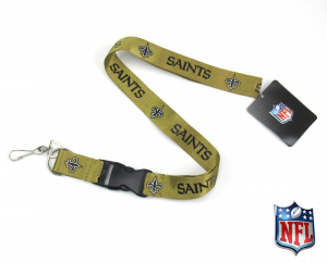 New Orleans Saints Gold Officially Licensed Nylon Lanyard-0