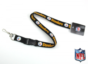 Pittsburgh Steelers Officially Licensed Nylon Lanyard-0