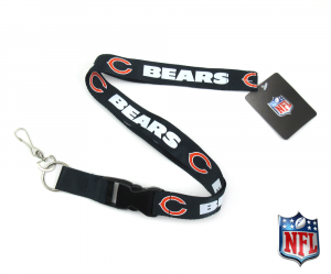 Chicago Bears Officially Licensed Nylon Lanyard-0