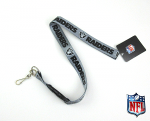 Oakland Raiders Officially Licensed Nylon Lanyard-0
