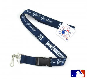 New York Yankees Officially Licensed Nylon Lanyard-0