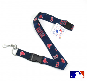 Boston Red Sox Officially Licensed Nylon Lanyard-0