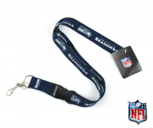 Seattle Seahawks Officially Licensed Nylon Lanyard-0