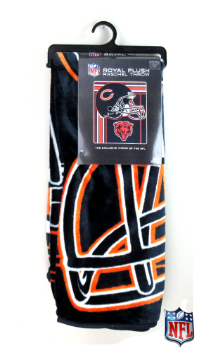 Chicago Bears Officially Licensed NFL Raschel Throw Blanket-0