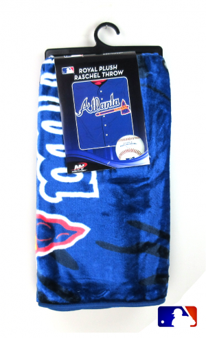 Atlanta Braves Officially Licensed MLB Raschel Throw Blanket-0
