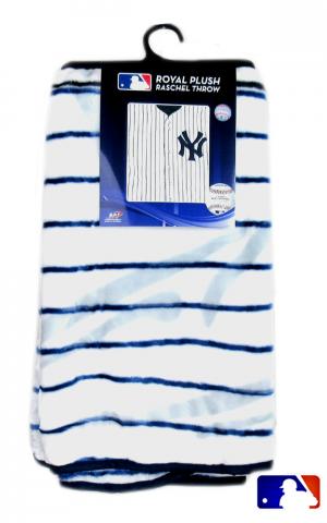 New York Yankees Officially Licensed MLB Raschel Throw Blanket-0