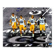 Craig Steltz, Jacob Hester, & Chad Jones Signed LSU Tigers 16x20 Spotlight Photo With Player Inscriptions -0