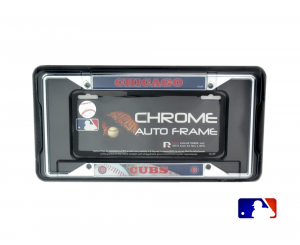 Chicago Cubs Officially Licensed MLB EZ View Chrome Tag Frame-0