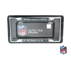 Philadelphia Eagles Officially Licensed NFL EZ View Chrome Tag Frame-0