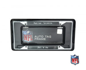 New York Jets Officially Licensed NFL EZ View Chrome Tag Frame-0