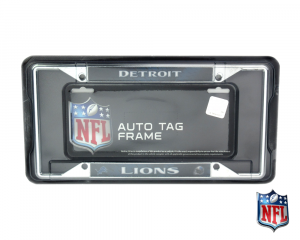 Detroit Lions Officially Licensed NFL EZ View Chrome Tag Frame-0
