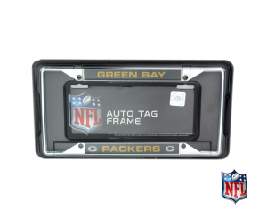 Green Bay Packers Officially Licensed NFL EZ View Chrome Tag Frame-0