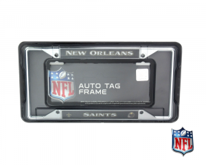 New Orleans Saints Officially Licensed NFL EZ View Chrome Tag Frame-0