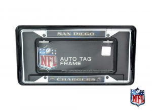 San Diego Chargers Officially Licensed NFL EZ View Chrome Tag Frame-0