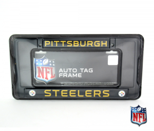 Pittsburgh Steelers Officially Licensed NFL Black Tag Frame-0