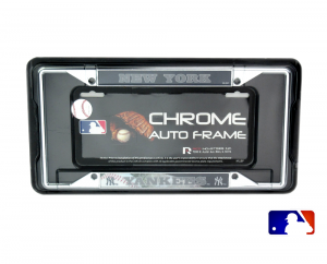 New York Yankees Officially Licensed MLB EZ View Chrome Tag Frame-0