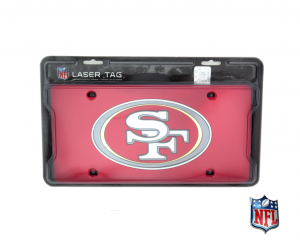 San Francisco 49ers Officially Licensed Mirror Laser Tag License Plate - Red-0