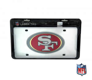 San Francisco 49ers Officially Licensed Mirror Laser Tag License Plate-0