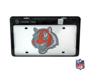 Cincinnati Bengals Officially Licensed NFL Mirror Laser Tag License Plate-0