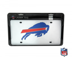 Buffalo Bills Officially Licensed NFL Mirror Laser Tag License Plate-0