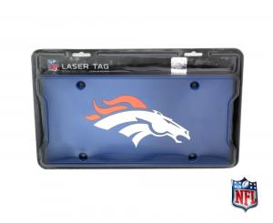 Denver Broncos Officially Licensed NFL Mirror Laser Tag License Plate - Blue-0
