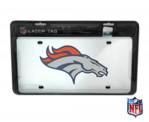 Denver Broncos Officially Licensed NFL Mirror Laser Tag License Plate-0