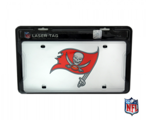 Tampa Bay Buccaneers Officially Licensed NFL Mirror Laser Tag License Plate-0