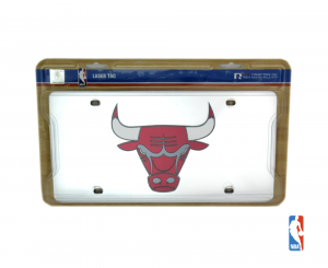 Chicago Bulls Officially Licensed NBA Mirror Laser Tag License Plate-0