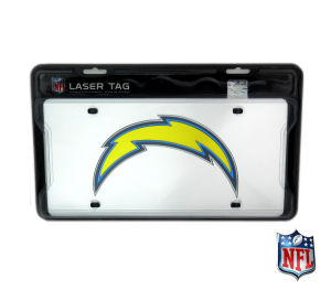 San Diego Chargers Officially Licensed NFL Mirror Laser Tag License Plate-0