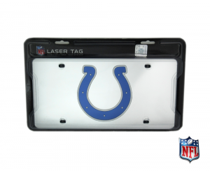 Indianapolis Colts Officially Licensed NFL Mirror Laser Tag License Plate-0